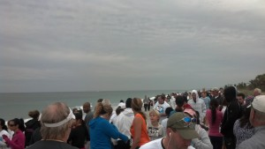 I love starting a race on the beach next to the ocean!